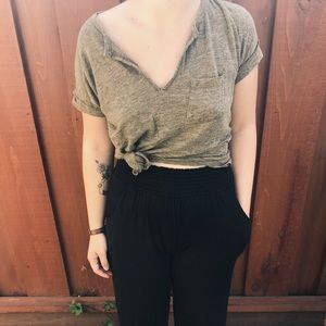 Army green Madewell top .